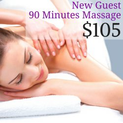 New Guests 90 minute massage