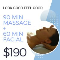 Look Good Feel Good Massage and Facial Package